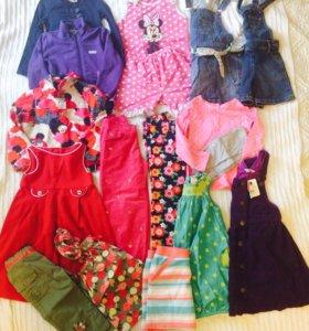 Большой пакет одежды на девочку 3-5 лет!