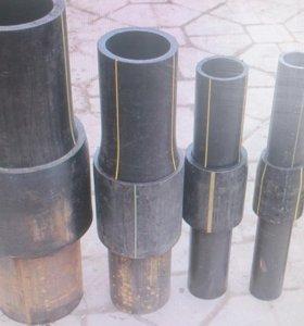 Полиэтилен сталь переход от 32 до 630 диаметров