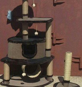 Домик для кошки, игровой комплекс с когтеточкой