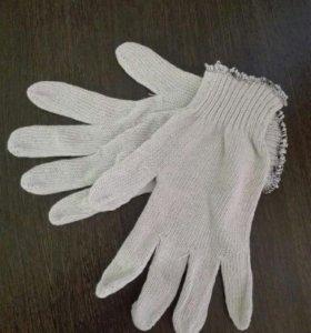 Хб перчатки 10 пар 70 руб.