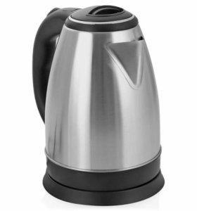 Новый металлический электрический чайник