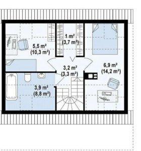 Проект маленького дома Z39