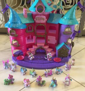 Замок Filly ведьмочки +15 лошадок