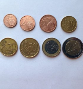 Набор монет евро