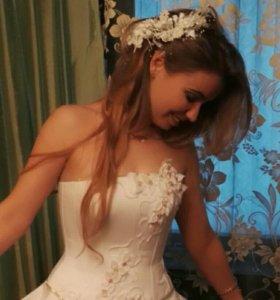 Вечернее (свадебное)платье.