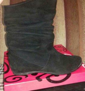 Ботинки замшевые демисезонные 39 размер