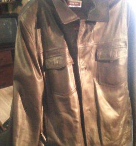 Куртка муж кожа Турция бу
