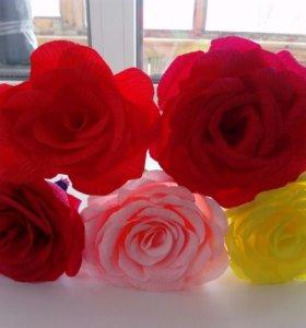 Розы ручной работы