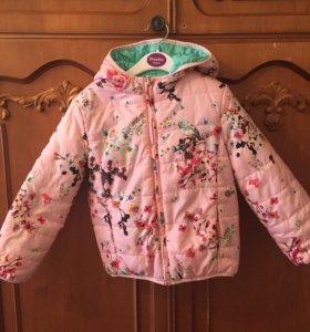 Детская куртка для девочки весна-осень.