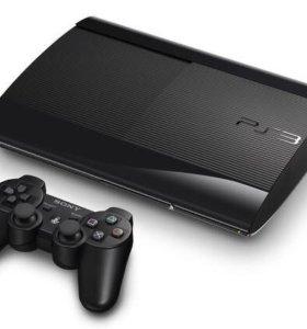 PS3 slim 12гб 3 диска