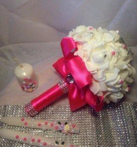 свадебный розовый набор