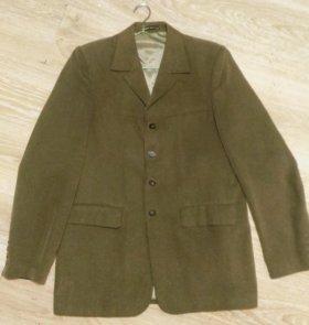 Мужской пиджак, р.46, микровельвет