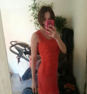 Платье Befree красное