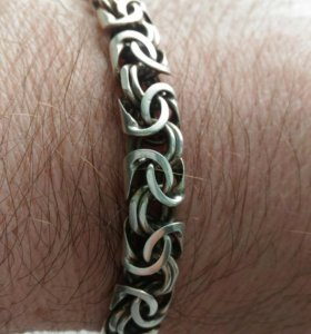 Серебряный,мужской браслет