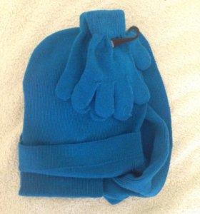 Комплект (шапка,шарф,перчатки)