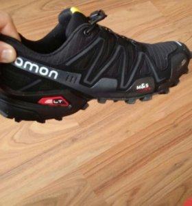 Кроссовки саламон чёрные