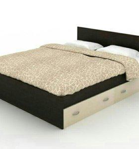 Кровать+матрас с ящиками двуспальная