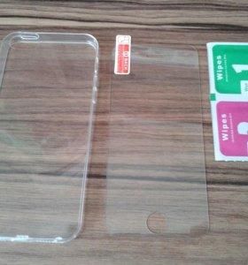 Защитные стекла 5/5s, 6/6s и прозрачные чехлы