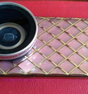 Объектив для камеры широкоугольный для мобильного