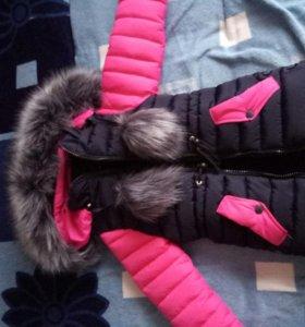 Куртка на девочку зимняя, на 4-5лет