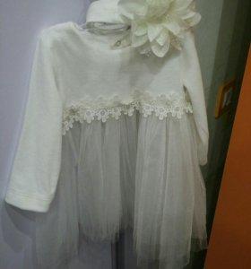 Платье детское велюр