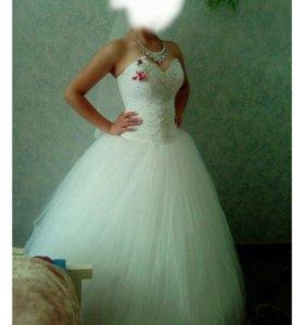 Свадебное платье + подъюпник