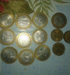 Монетка и купюра