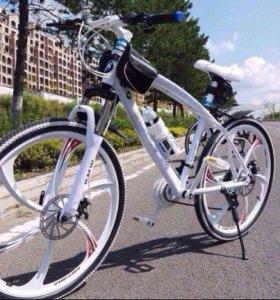 Велосипед на литье.