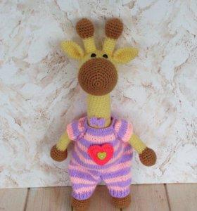 Жираф Яша. Вязаная игрушка. Амигуруми.