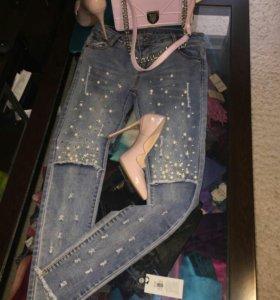 Джинсы, сумка, туфли