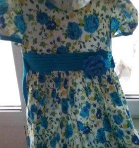 Нарядное нежное платье на весну, +/- 110😙😙🌷🌷🌷