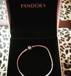 Серебряный браслет Pandora ( оригинал )