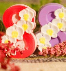 """Мыло ручной работы """"8 марта. Орхидеи"""""""