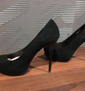 Туфли замша натуральная 38-39 размер
