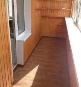 Отделка балконов, лоджий, гаражей, итд.