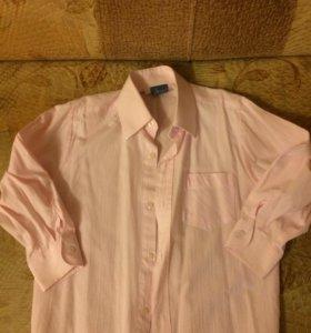 Рубашка светло розовая