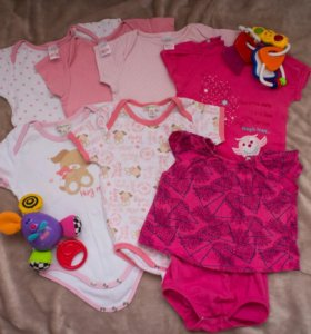 Одежда на малышку 2-6 мес