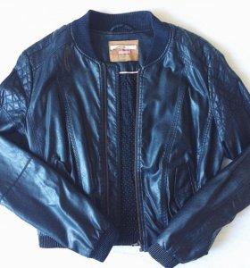 Кожаная куртка бомбер 🏈