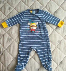 Детский комбинезон (слип) велюровый mothercare