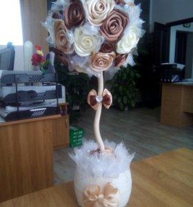 Подарки, дерево, букет, топиарий