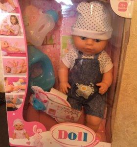 Интерактивная кукла беби долл 40 см