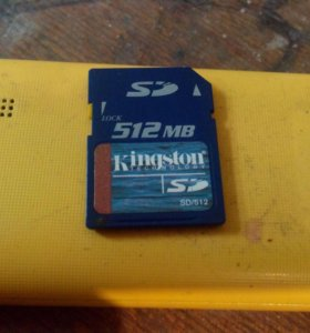 SD Kingston 512 mb