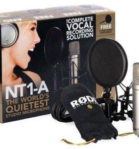 Конденсаторный микрофон Rode NT1-A + стойка