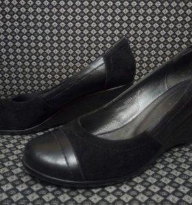 Туфли замша-кожа