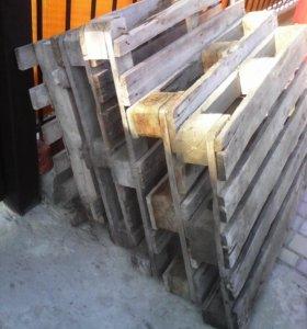 Продаю поддоны из-под блоков, тротуарной плитки