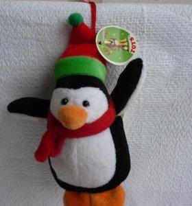 Пингвин с крыльями с петелькой на присоске.
