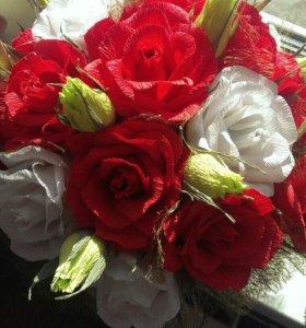 Букет. Цветы с конфетами