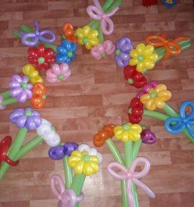 Ромашка из шаров