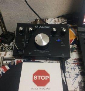 Внешняя звуковая карта m-audio 2x2 m
