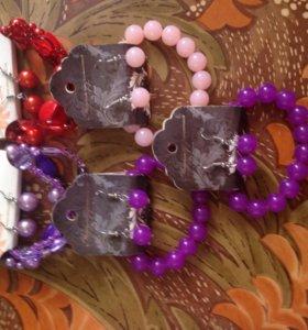 Набор браслеты с серьгами